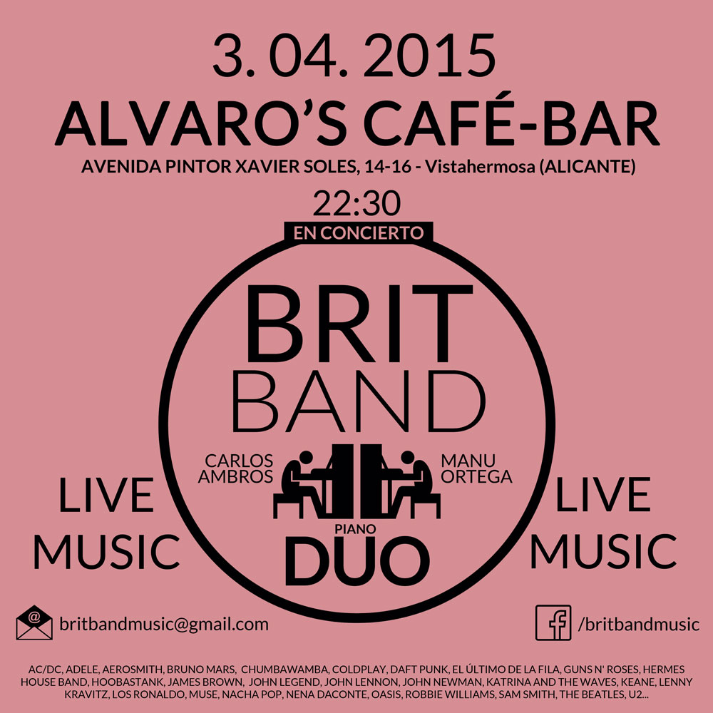 Brit Band en Alvaros Café Alicante